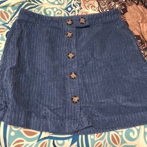 Urban Outfitters Blue Corduroy Skirt
